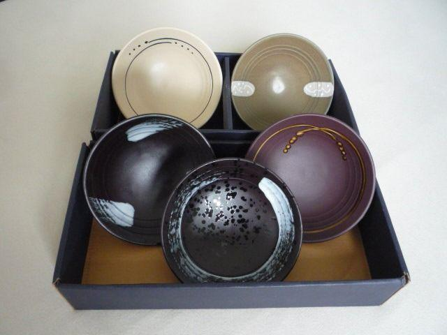 Conjunto de 5 tigelas de porcelana japonesas (15 cm x 04 cm)