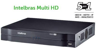 Dvr multi hd 5 em 1 intelbras mhdx 1108 até 10 câmeras