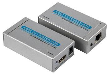 Extensor hdmi amplificado flexport até 60m p/ cabo utp