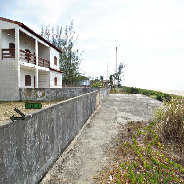 Guaratiba-maricá/rj, terreno murado frente praia, podendo