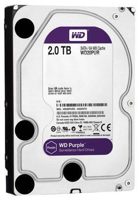 Hd p/ dvr nvr wd wd20purz purple 2tb 6gbps 64mb sata