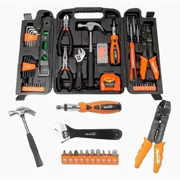Kit de ferramentas profissionais 129 peças com maleta super