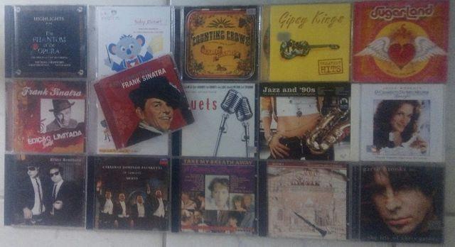 Lote coleção cds jazz, clássico, country e trilhas