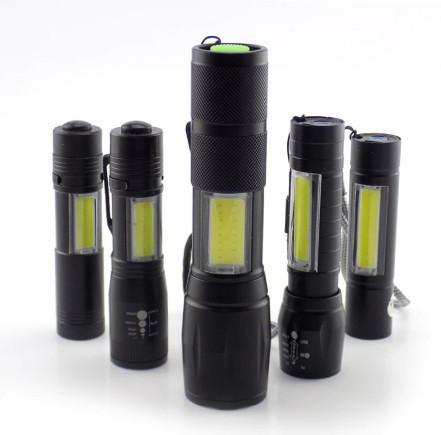 Novo) mini lanterna tática 2x1 luz potente