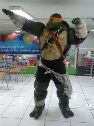 Personagens para festas e circos - tartaruga ninja