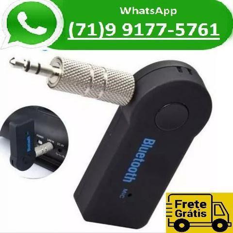 Receptor automotivo áudio bluetooth adaptador p2 musica som