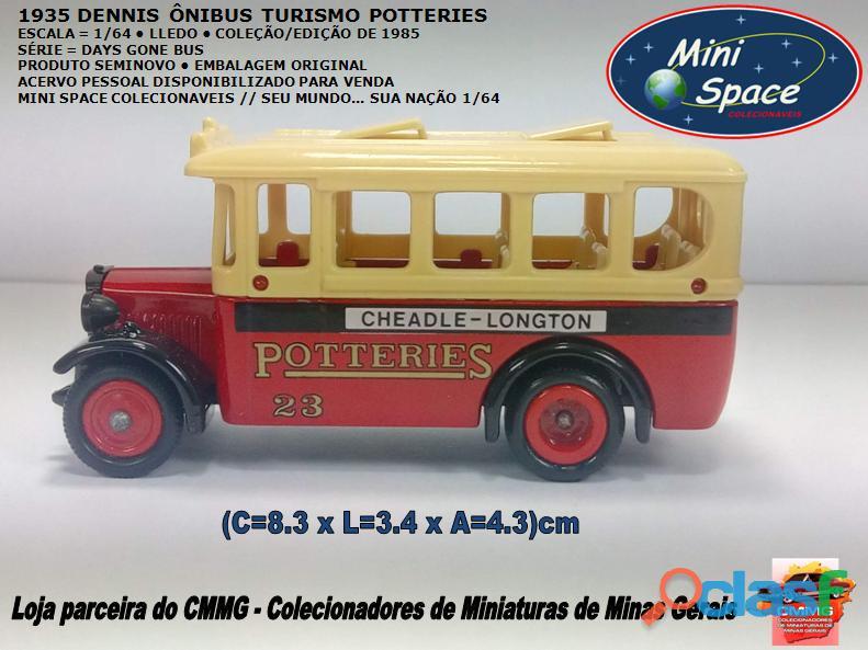 Lledo 1935 dennis ônibus turismo potteries 1/64
