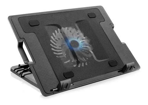 Base para notebook multilaser c/cooler 12cm led e usb ac166