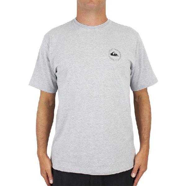 Camiseta quiksilver round surf cinza mescla - surf alive