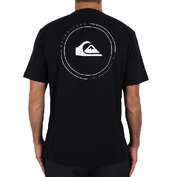 Camiseta quiksilver round surf preta - surf alive