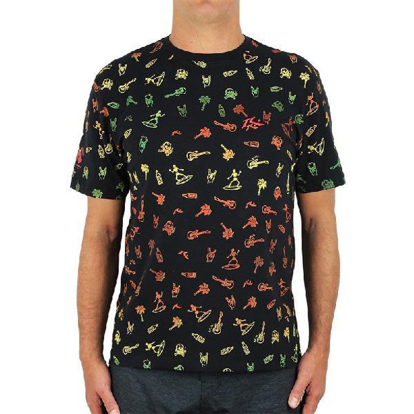 Camiseta rusty amphibious micro elements black - surf alive