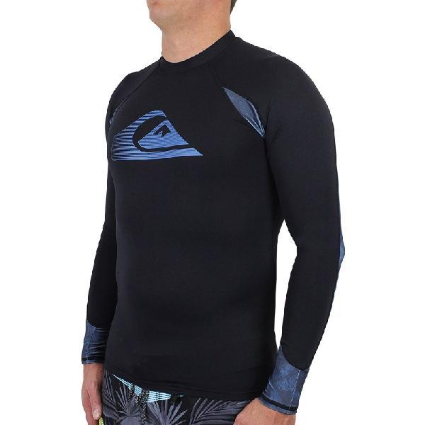 Camiseta para surf quiksilver paradise manga longa black -