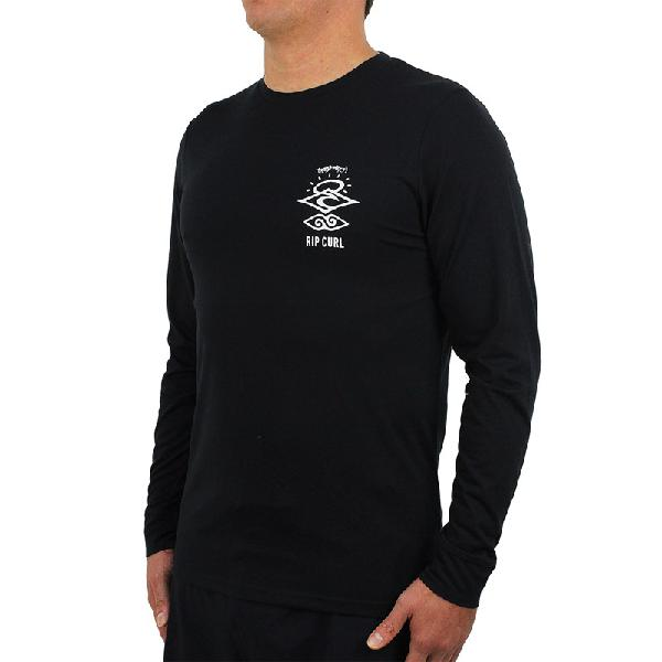 Camiseta para surf rip curl search logo black - surf alive