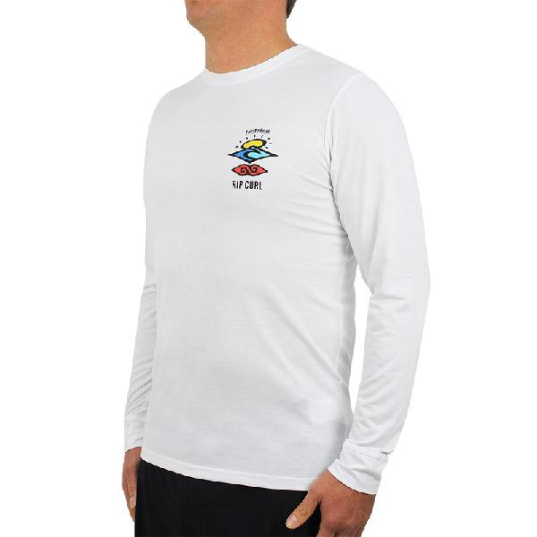 Camiseta para surf rip curl search logo white - surf alive
