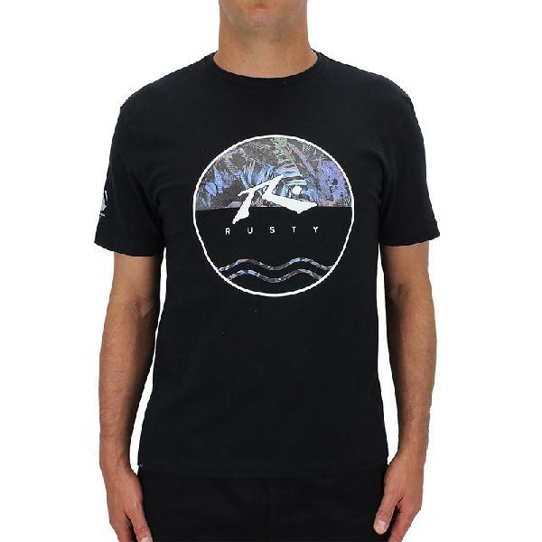 Camisetaespecialrusty amphibious botanic black - surf