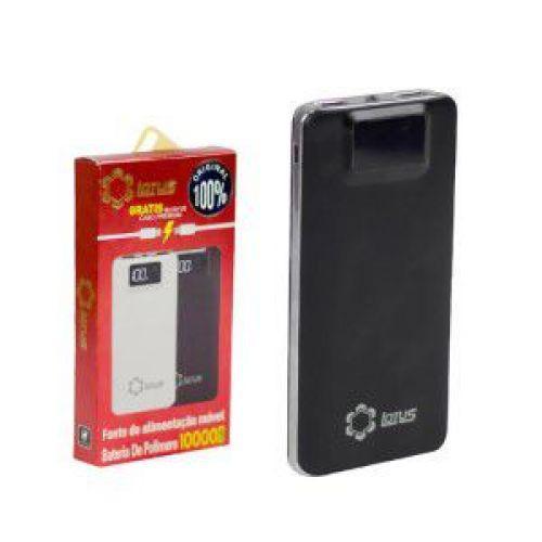 Carregador portatil universal power bank 10000 mah cabos v8