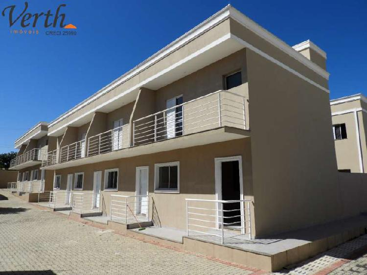 Casa de condomínio para venda tem 75 metros quadrados com 2