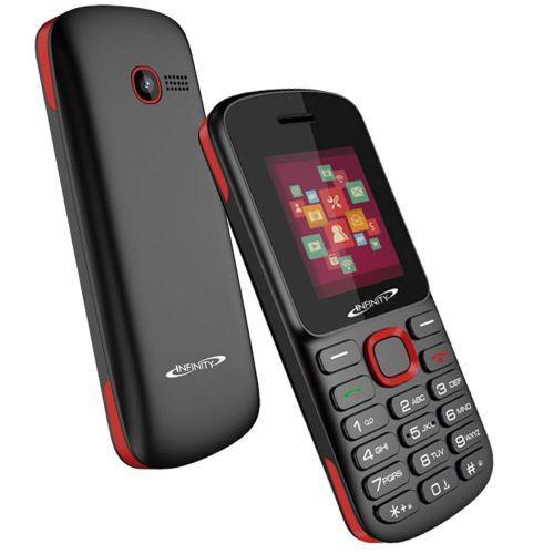 Celular infinity dual 34gb 1.7'' mp3 w201 - preto//vermelho