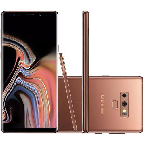 Celular samsung galaxy note 9 cobre 6gb tela 6.4 s pen 512gb