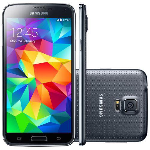 Celular smartphone samsung galaxy s5 g900 preto -4g, tela