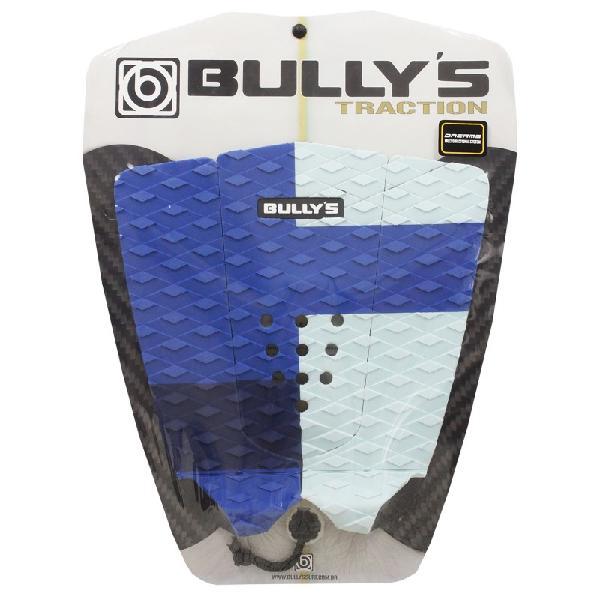 Deck antiderrapante bully's dreams azul e branco - surf