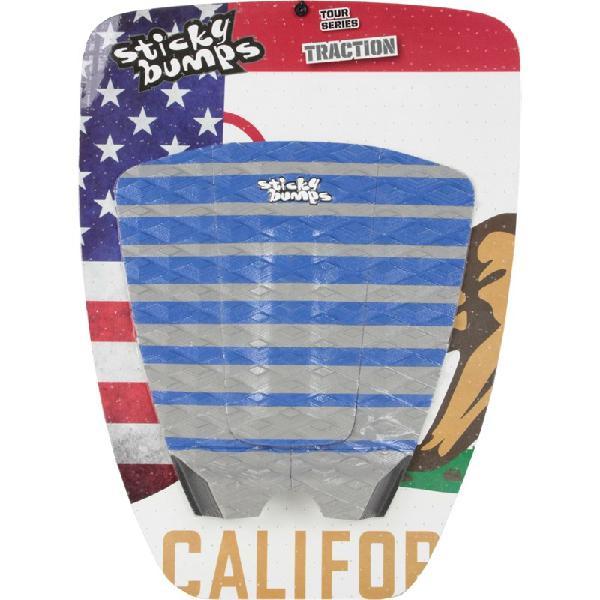 Deck antiderrapante sticky bumps stripes cinza e azul - surf
