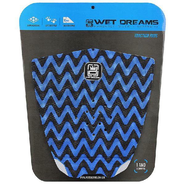 Deck antiderrapante wet dreams cnc sky azul e preto - surf