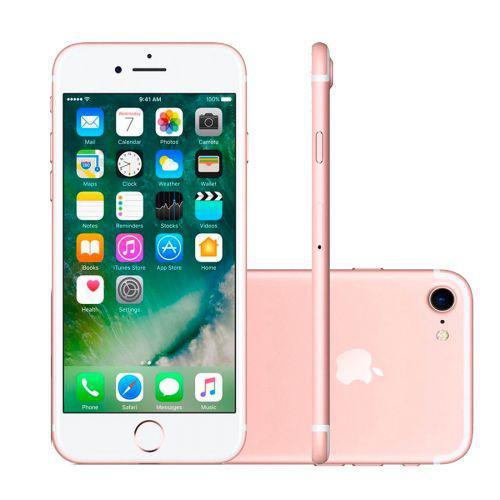 Iphone 7 ouro rosa, mn952br//a, tela de 4.7/