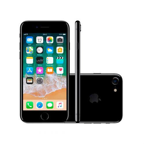Iphone 7 Preto Brilhante, MN912BR//A, Tela de 4.7/