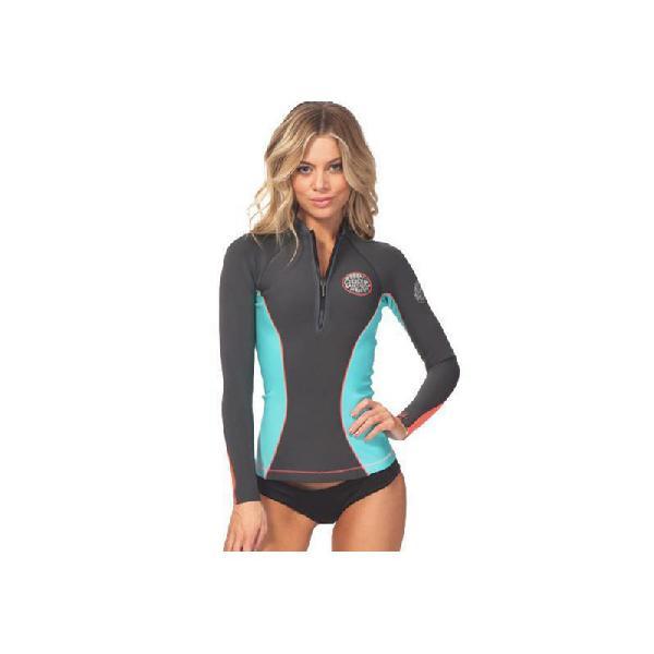 Jaqueta de neoprene rip curl g-bomb feminina 1mm grey - surf