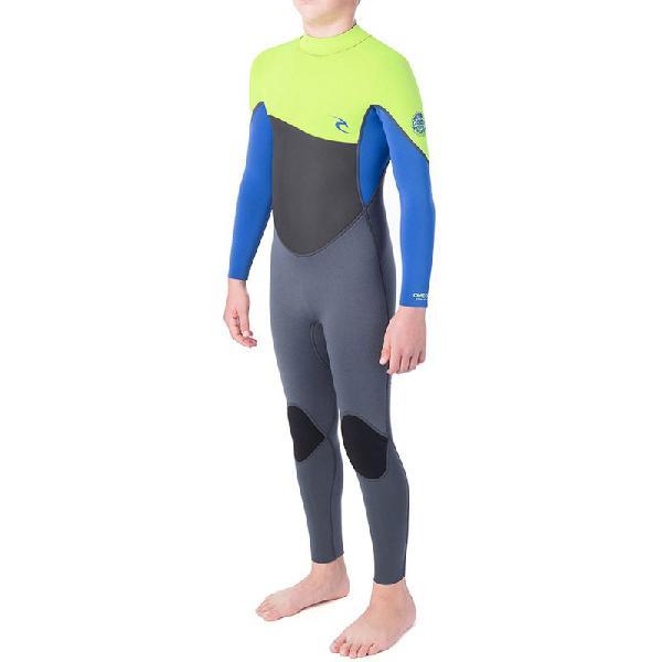 Long john infantil rip curl omega 3/2mm lime - surf alive