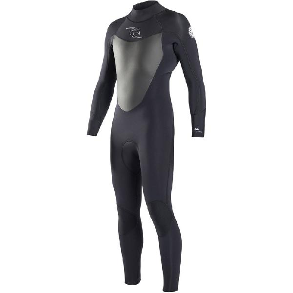 Long John Rip Curl Dawn Patrol 3/2mm Back Zip Black - Surf