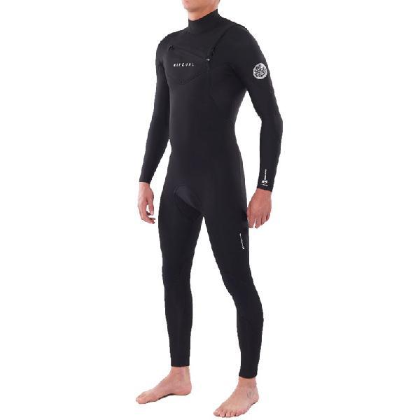 Long john rip curl dawn patrol 4/3mm chest zip black - surf