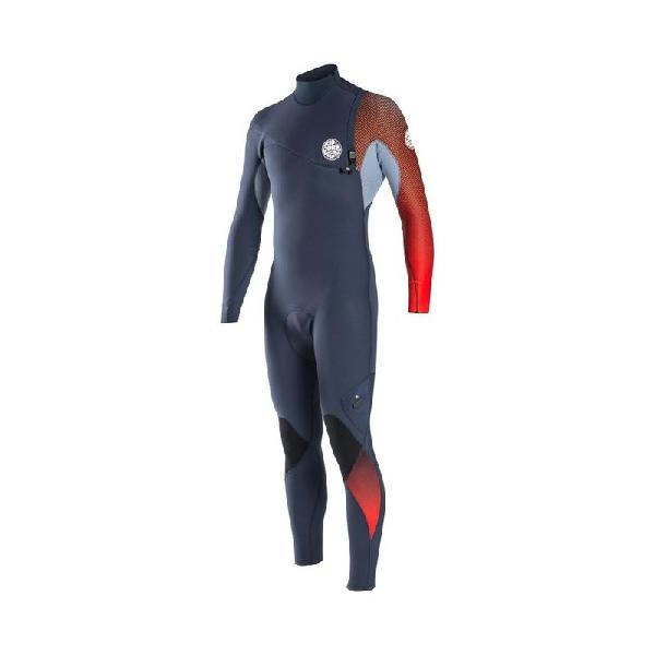 Long john rip curl e-bomb zip free 3/2mm red - surf alive