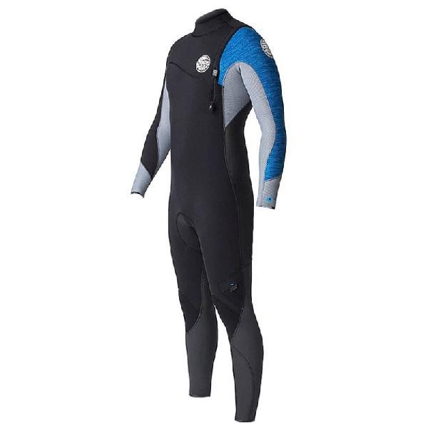 Long john rip curl flashbomb 3/2mm zip free blue - surf
