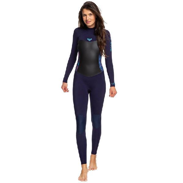 Long john roxy syncro 3/2 back zip blue ribbon coral flame -