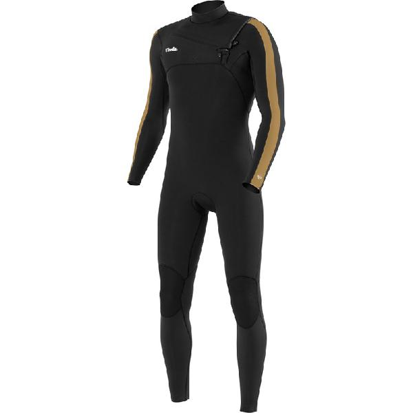 Long john vissla seven seas gadoo 3/2 chest zip black - surf