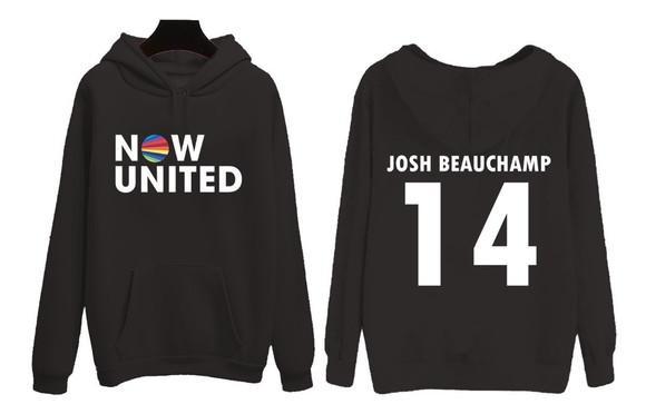 Moletom now united josh beauchamp 14 blusa unissex