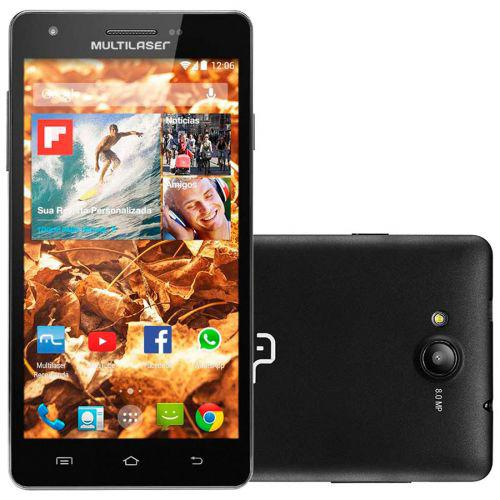 Multilaser ms6 p3299 preto - smartphone - dual chip, android