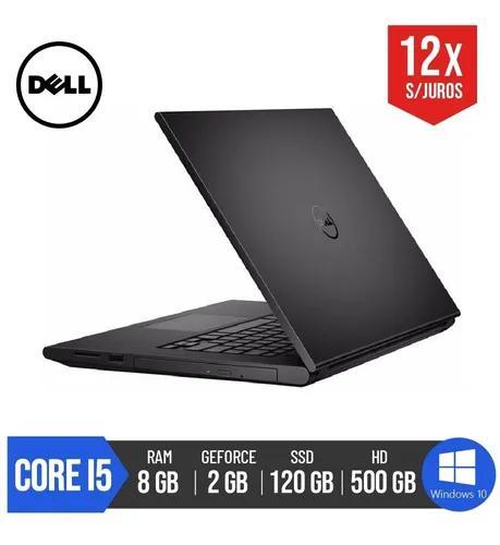 Notebook dell core i5 8gb ram ssd 120gb kingston hd 500gb