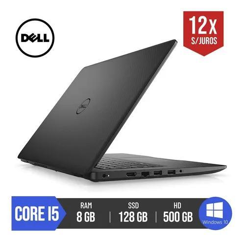 Notebook dell vostro core i5 8gb ram 128gb ssd 500gb hd