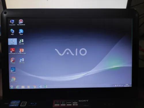 Notebook sony vaio i5 4gb ssd 240gb vpceg17fb - leia anuncio