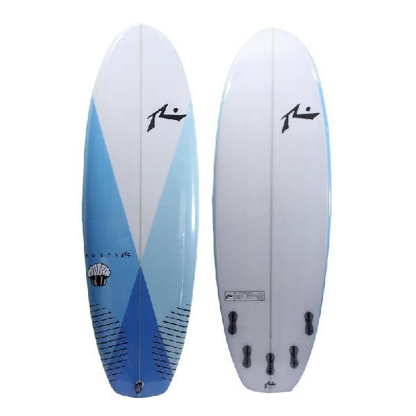 Prancha de surf rusty muffin top 5.8 fcs 2 azul - surf alive