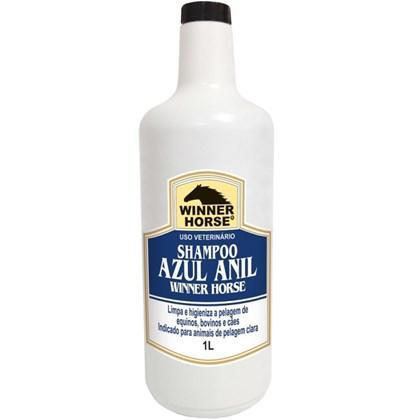 Shampoo azul anil 1 litro (para pelagem clara) winner horse