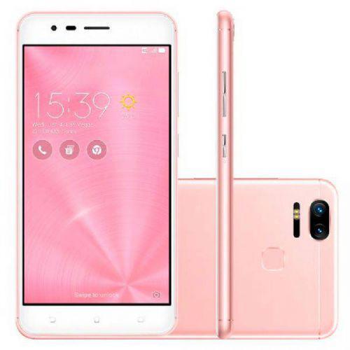 Smartphone asus zenfone 3 zoom, rose gold, ze553kl, tela de