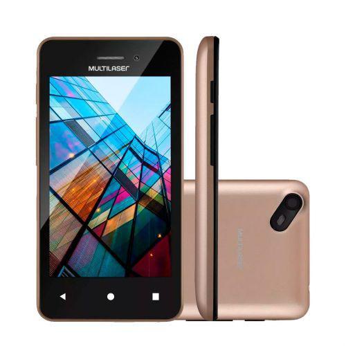 Smartphone multilaser ms40s preto//dourado 4