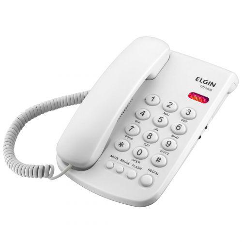 Telefone com fio elgin tcf2000 branco - bloqueio de