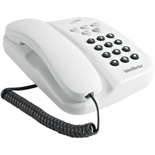 Telefone com fio intelbras tc500 4040094 branco com chave