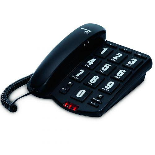 Telefone com fio intelbras teclas grandes tok f/u00e1cil -