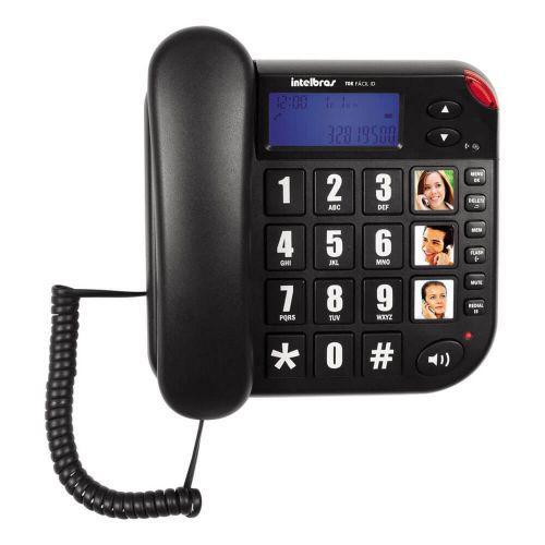 Telefone com fio intelbras tok f/u00e1cil id 4000073 preto